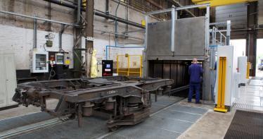 Reinigungsanlagen für die Eisenbahn, U-Bahn und LRT