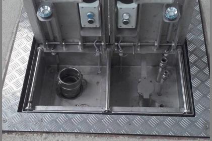 Entsorgungssystem Typ 3000: Einzeluntergrund - Meist ergonomische Lösung