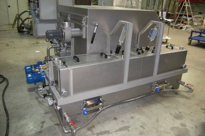 Machine à laver pour petites pièces pour les chemins de fer allemands