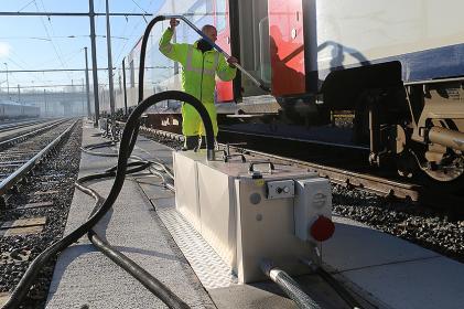 Optionen für die Entsorgungnetzwerksystemen für Zugdepots