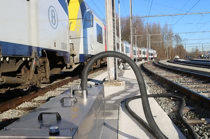 Options for supply and disposal network systems for train and HS depots