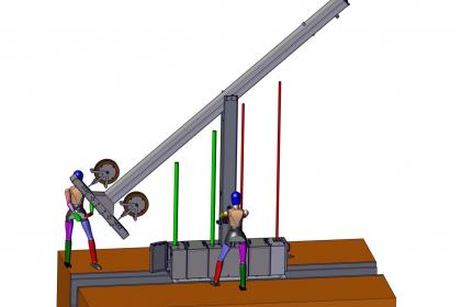 Entsorgungssystem Typ 6000: T-Pfahl mit integriertem Rückstellsystem