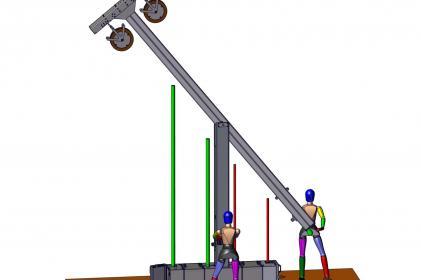 Réseau de vidange Type 6000: poteau en T avec système d'enroulement intégré